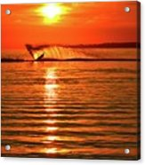 Water Skiing At Sunrise  Acrylic Print