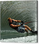 Water Skiing Magic Of Water 11 Acrylic Print by Bob Christopher