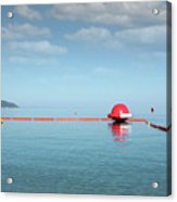 Water Slide Seascape Summer Vacation Scene Acrylic Print
