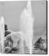 Water Spray - Swann Fountain - Philadelphia In Black And White Acrylic Print
