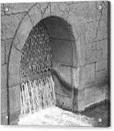 Water Stone Acrylic Print