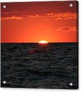 Water Sun Set Acrylic Print