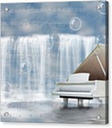 Water Synphony For Piano Acrylic Print