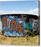 Water Tank Graffiti Acrylic Print