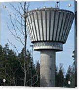 Water Tower Of Lohja  Station Acrylic Print