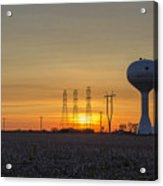 Water Tower Of Sunset Acrylic Print