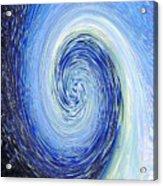 Water Twirl Blue Acrylic Print