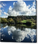 Water Vapour On A Mirror Acrylic Print