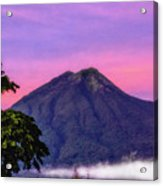 Water Volcano, Guatemala Acrylic Print