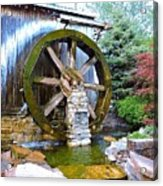 Water Wheel In Spring Acrylic Print