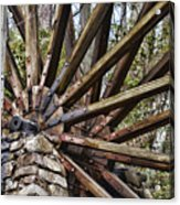 Water Wheel In The Fall Acrylic Print