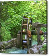 Water Wheel In The Woods Acrylic Print