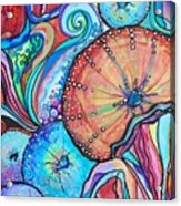 Watercolor #4 Sea Urchins Acrylic Print