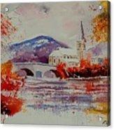 Watercolor Anseremme Acrylic Print