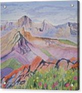 Watercolor - Blanca And Ellingwood Landscape Acrylic Print