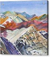 Watercolor - Colorado Elk Range View Acrylic Print