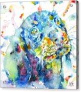 Watercolor Dachshund Acrylic Print
