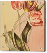 Watercolor Flowers Acrylic Print