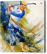 Watercolor  Golf Player Acrylic Print