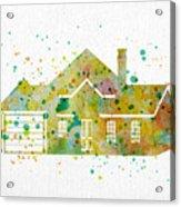 Watercolor House  Acrylic Print