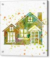 Watercolor Houses Acrylic Print