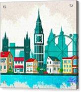 Watercolor Illustration Of London Acrylic Print