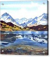 Watercolor Lake Reflection Acrylic Print