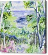 Watercolor - Lake Superior Impression Acrylic Print