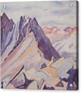Watercolor - Near The Top Of Mount Sneffels Acrylic Print