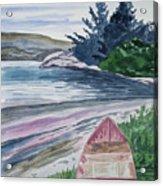 Watercolor - New Zealand Harbor Acrylic Print