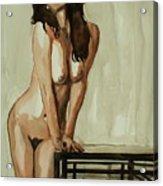 Watercolor Nude 1 Acrylic Print