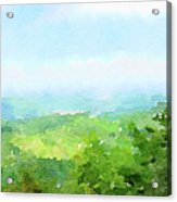 Watercolor Painting Of The English Countryside Acrylic Print