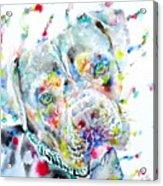 Watercolor Pit Bull.2 Acrylic Print