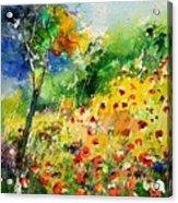 Watercolor poppies 518001 Acrylic Print