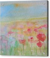 Watercolor Poppies Acrylic Print