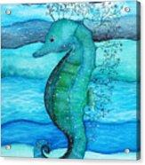 Watercolor Saehorse Acrylic Print