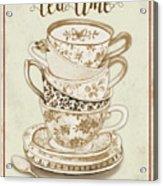 Watercolor Teacups-e Acrylic Print
