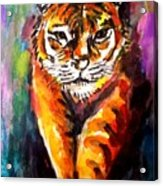 Watercolor Tiger Acrylic Print