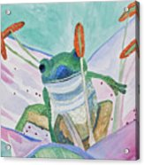 Watercolor - Tree Frog Acrylic Print
