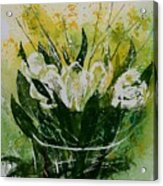 Watercolor Tulips Acrylic Print