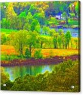 Watercolor View Acrylic Print
