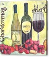 Watercolor Wine Acrylic Print