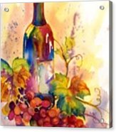 Watercolor Wine Acrylic Print