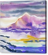Watercolor - Winter Arctic Impression Acrylic Print