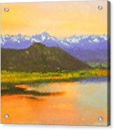 Watercolored Sunset Acrylic Print