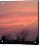 Watercolors In The Sky Acrylic Print