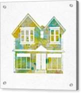 Watercolour House Acrylic Print