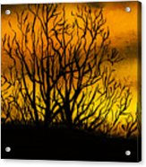 Watercolour Sunset Acrylic Print