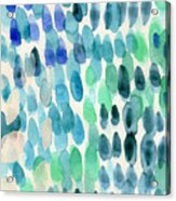 Waterfall 2- Abstract Art By Linda Woods Acrylic Print