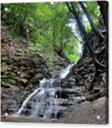 Waterfall And Natural Gas Acrylic Print
